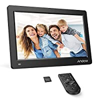 ‏‪Andoer 11.6 Inch Digital Photo Picture Frame FHD 1920 * 1080 IPS Screen Support Calendar/Clock/MP3/Photos/1080P Video Player with Remote Control 8GB Memory Card‬‏