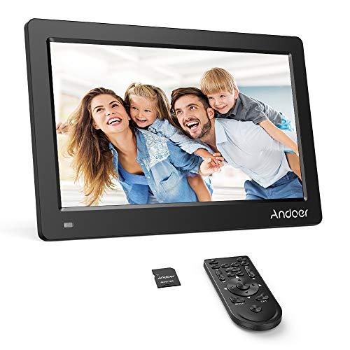 Andoer 11.6 Zoll Digitaler Bilderrahmen FHD 1920 * 1080 IPS Bildschirm Unterstützung Kalender/Uhr / MP3 / Fotos / 1080P Video Player mit 8 GB Speicherkarte Gute Wahl