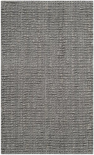 "Light Grey, 2'6\ x 4' : Safavieh Natural Fiber Collection NF447G Hand Woven Light Grey Jute Area Rug (2'6"" x 4')"