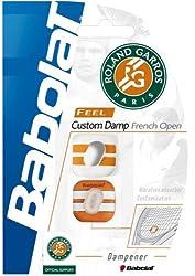 Babolat Roland Garros Custom Damn 700026-134 Vibration Damper (White/Orange)