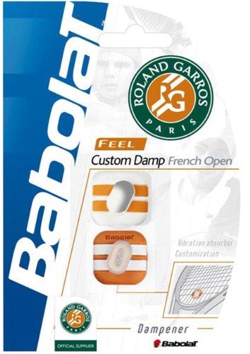 2er Set Babolat Custom Damp French Open Racket Dämpfer weiß/orange