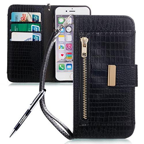 3fcd3db5e69 Carcasa iPhone 6S, iPhone 6 Funda de piel Cartera, jawseu [shock-absorption