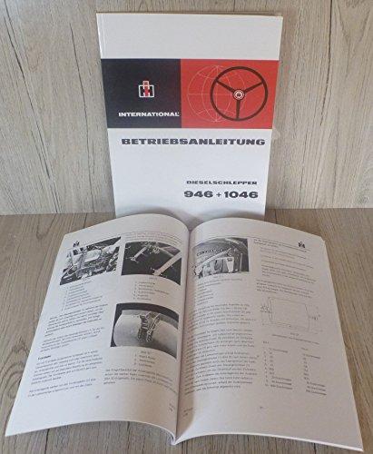 Preisvergleich Produktbild Betriebsanleitung IHC Schlepper 946 + 1046