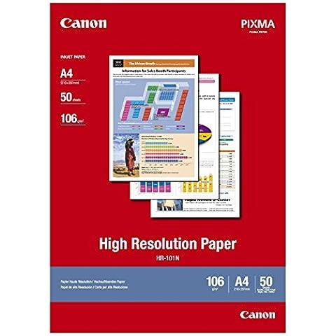 Canon HR-101N - Papel de alta resolución A4, 50 hojas