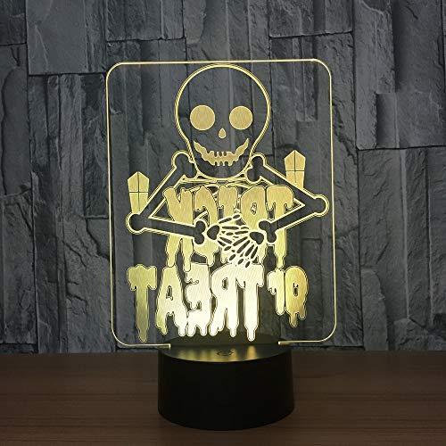 Nachtlicht Remote Touch 7 Farbwechsel 3D Schreibtischlampe Halloween Deko Enfant Chambre Nacht 3D Tischlampe Für Schlafzimmerbeleuchtung