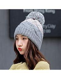2f198a4b8e155 TianMI Sombrero Sombrero Sombrero De Invierno Sombrero De Invierno Sombrero  De Invierno Señoras Algodón Crochet Negro