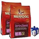 2 x 12,5 kg Mera Dog Brocken Hundefutter hochwertige Kroketten + Geschenk