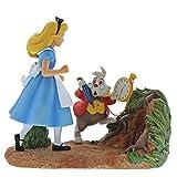 Enchanting Disney Mr Rabbit Wait-Alice nel Paese delle Meraviglie-Figurina, Resina, Multicolore, 200x85x185 cm