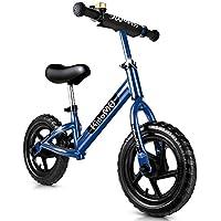 """7409cd32071b03 KidoMe 12"""" Bicicletta da Equilibrio Blu Prima Bici Senza Pedale Regalo per  Bambini Acciaio al"""