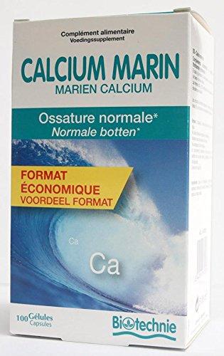 Biotechnie - Calcium marin - 100 gélules - Pour des os forts et consolidés