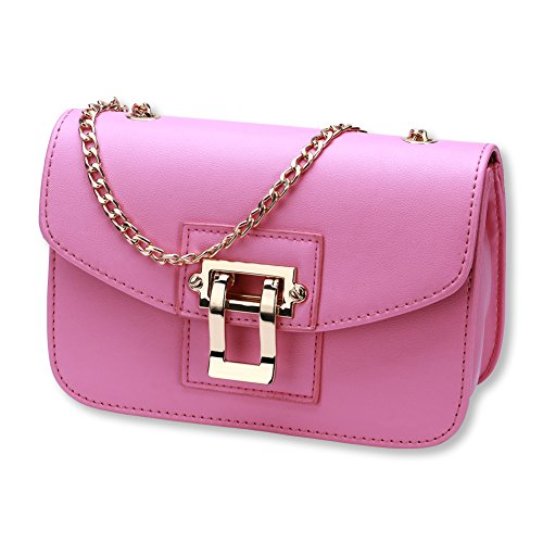 Ladies fashion satchel bag -gris rose