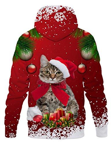 LAIDIPAS Unisex Realistische 3D Galaxy bedruckte große Taschen Drawstring Pullover Hoodie Kapuzen Sweatshirt Style 33