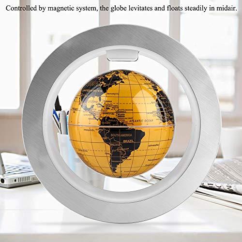 15,2 cm schwimmende Globe, O-Form, magnetisch, schwebender Globus mit LED-Lichtern, Power-Taste, Weltkarte für Urlaubsgeschenk und Schreibtisch-Dekoration Uk Plug