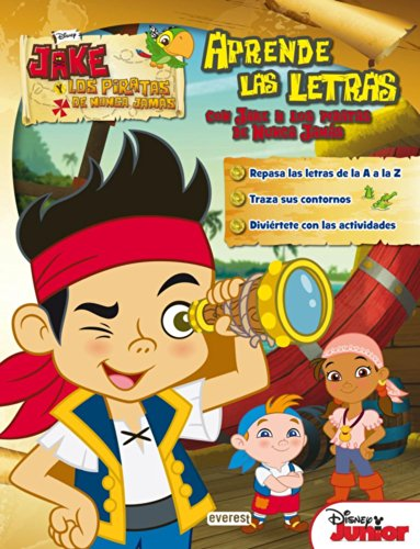 Aprende Las Letras Con Jake Y Los Piratas De Nunca Jamás (Libros...