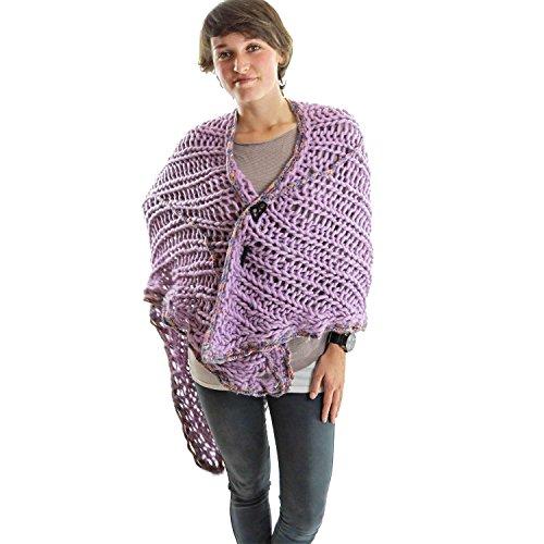 ilse-van-der-mersch-splendide-chle-foulard-tole-charpe-pashmina-tricot-main-en-suisse-laine-naturell