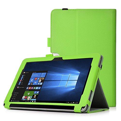 iBetter Acer Iconia Talk S (A1-734) Hülle Case, Slim Fit Folio Premium PU Kunstleder Schutzhülle Tasche Etui Smart Cover mit Ständerfunktion für Acer Iconia Talk S (A1-734) Zoll Tablet-PC,Grün