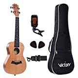 Concert Ukulele 23 Inch Mahogany Aquila Strings Beginner 5 in 1 Kit: Bag