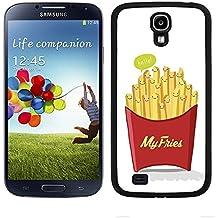 """Funda carcasa para Samsung Galaxy S4 diseño ilustración """"My fries"""" patatas fritas borde negro"""