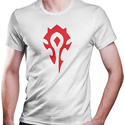 ZDesignONE World of Warcraft Horde Fan Shirt für Die Horde Größe xs-4xl Weiß