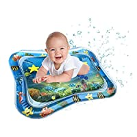 "Inflatable Pat and Play Water Mat Baby Fun Activity Play Center for Children & Infants Stimulation Growth BaojunHT® (Blue,19.7"" x 26"")"