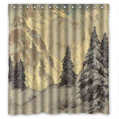 Eyeselect Polyester Beautiful Scenery Landscape Painting Shower Curtains Width X Height / 72 X 72 Inches / W H 180 by 180 cm Best Choice for Wife Boys Him Teens Valentine. Rust Proof - F