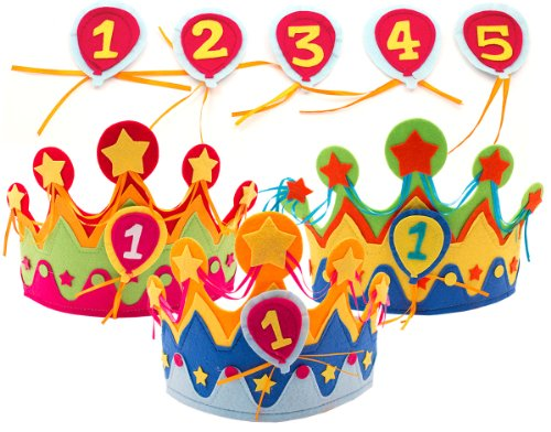 Kinder-Geburtstags-Krone für Jungs & Mädchen mit auswechselbaren Zahlen von 1 - 5 // Geburtstag Verkleidung Verkleiden Boy Girl Kinder Kindergeburtstag Geburtstagskind