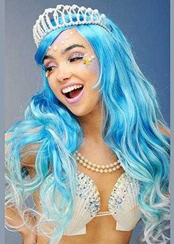 Magic Box Int. Womens Deluxe Blue Mermaid Perücke und - Mermaid Magic Kostüm