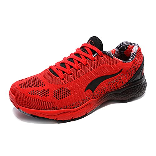 Onemix Men's Knit Trail Running Shoes Red/Black