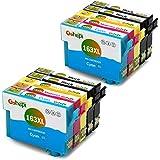 Gohepi 163XL Compatibile per Cartucce Epson 16XL 16 Epson WorkForce WF-2010W WF-2630WF WF-2510WF WF-2660DWF WF-2760DWF WF-2750DWF WF-2530WF WF-2650DWF WF-2540WF WF-2520NF - 4 Nero/2 Ciano/2 Magenta/2 Giallo Confezione da 10