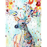 Diealles Shine DIY 5D Diamond Painting by Number Kits Ciervo, Completo 5D Kits de Pintura de Diamantes Bordado Punto de Cruz Diamante para Home Decor Art Crafts Mural,30 * 40cm