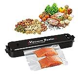 EIVOTOR Vakuumiergerät Lebensmittel Folienschweißgerät Vakuumierer automatisch vakuumieren Luftdichtung Vacuum Sealer für natürliche Lebensmittelkonservierung mit 20 Gratis Profil Folienbeutel