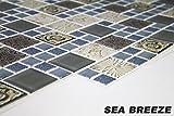 1 PVC Dekorplatte Mosaic Wandverkleidung Platten Wand 95x48cm, SEA BREEZE