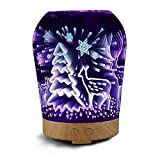 Humidifiers Accessories Best Deals - SUN-E® Essential Oil Diffuser Ultrasonic Cool Mist Aromatherapy Humidifier With 3D 16 Color Changing Starburst LED Lights Waterless Auto Shut-off Perfect Christmas Gift