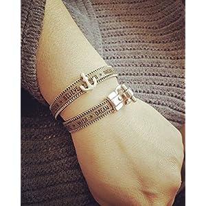 Trendiges olivgrünes Leder-Armband