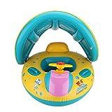 Walfront Baby Pool Float, aufblasbare Baby Clamshell-Schwimmboot mit Sonnenschutz, Baby-Schwimmring, Pool-Spielzeug für Kinder Alter 1-3