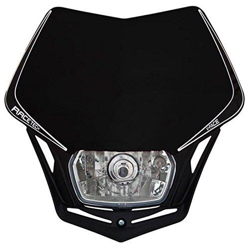 Preisvergleich Produktbild Scheinwerfer Motorrad Lampenmaske V-Face schwarz universal 35/35W + Standlicht