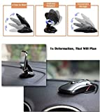 #1: Benjoy® Mouse Shape Foldable Multifunctional One Touch Car Phone Holder Stand Car Phone Mount, Car Mount, Car Phone Holder with One-button Release for Any Android Smart Phone (I Phone) For Maruti Suzuki New Swift Dzire 2017
