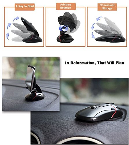 Benjoy Mouse Shape Foldable Multifunctional one-Button Release one Touch Car Phone Holder Mount for Android Smartphone/iPhone for Mahindra XUV 500