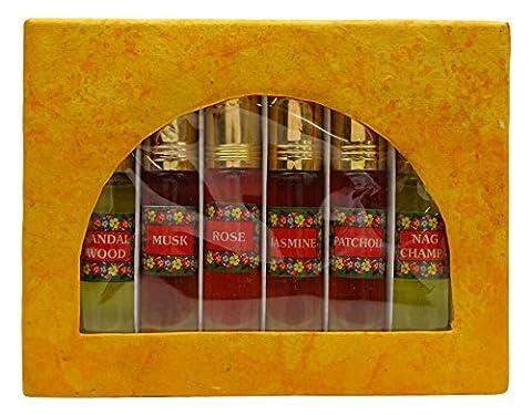 Huile Essentielle Parfum Natural Diffuseur Brûleur Huile 0.33 Ounce Ensemble De 6 Pièces