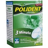 Polident Denture Cleanser Antibacterial Overnight Whitening Triple