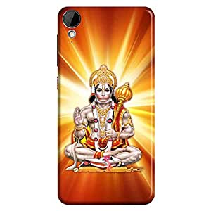 Bhishoom Designer Printed Back Case Cover for HTC Desire 825 (Bajrangbali Pavanputra Hanuman)