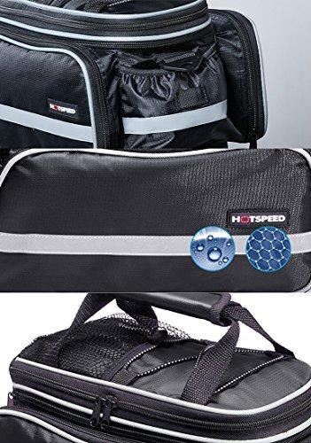 ranboo Große Bike Bag Wasserdichte hinten Sitz Tasche Tasche mit Reflektierende Streifen Rot
