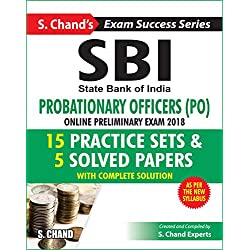 SBI Probationary Officers (PO) for Online Preliminary Exam 2018 (Practice Set in English)