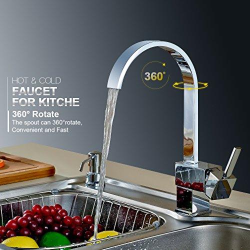 Auralum® 360° Schwenkbar Küchenarmatur Wasserhahn Einhebel Küche Armatur Spüle Waschtischarmatur
