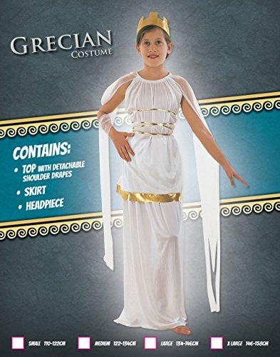 Imagen de disfraz de niña de la diosa griega atenea. 6  9 años alternativa