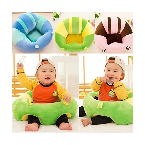 Baby Chairs Sitting Learning Infant Seat Colorful Pattern Lovely Kids Baby Support Chair Nursery Pillow Protectors Baby Nest Puff Plush Toys DANMEI ❤ Lightweight and Portable - It is quilt easy to carry and store with fabric out and lightweight inside. Easy to use everywhere of home ❤ Seating Support - The upright position also helps prevent against after-meal reflux. Attached seat bottom - Prevents your infant from sliding onto the floor. ❤ Soft and Warm : Softness, warmth and good elasticity can give the baby a good rest. 3