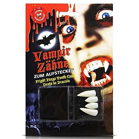 HC-Handel 914409 Vampir Aufsteckzähne Dracula Vampirgebiss weiß (Bram Stokers Dracula-kostüm)