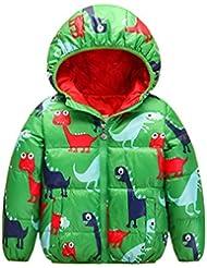 OMSLIFE Jacke Kinder Jungen Winterjacke mit Kapuze Jacket Wintermantel Mantel Trenchcoat Parka Outerwear(Dünnschnitt)