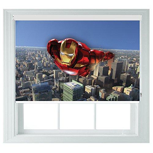 Ironman avengers style avvolgibili ideale per bagno, cucina, camera da letto e camper, tessuto, 122cmx140cm