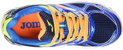 Joma J.Vitaly Jr 603 Azul-Naranja, Chaussures de Running Entrainement Garçon Bleu